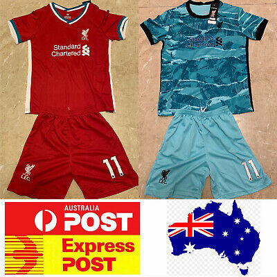 Liverpool Soccer Club #11 M.SALAH jerseys set, home red or away purple