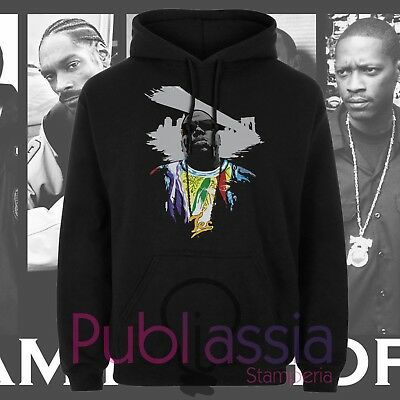 Biggie Small Felpe Cappuccio Girocollo Hip Hop Rap Notorious Big idea regalo 44