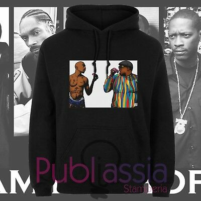 Biggie Small Felpe Cappuccio Girocollo Hip Hop Rap Notorious Big idea regalo 46