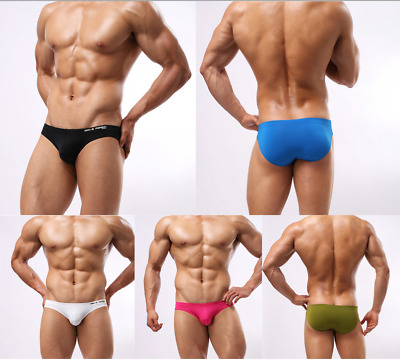 Men's Low Waist Bulge Pouch underwear bikini Briefs Swimwear Brave Person