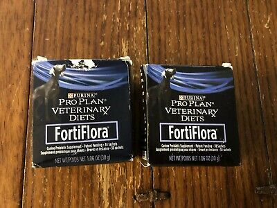 Purina FortiFlora Canine Nutritional Supplement, 29 Sachets. Exp 5/22/2019