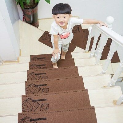 Adhesive Stair Thread Mat Stair Cover Pads Step Carpet Rug Protection Staircase