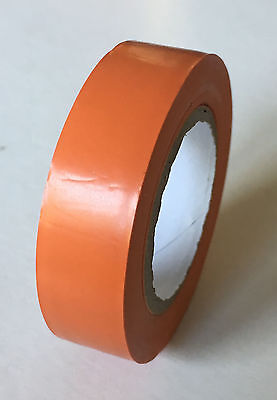 1 rouleau de scotch ruban adhésif pvc isolant électrique 15mmX10m ORANGE