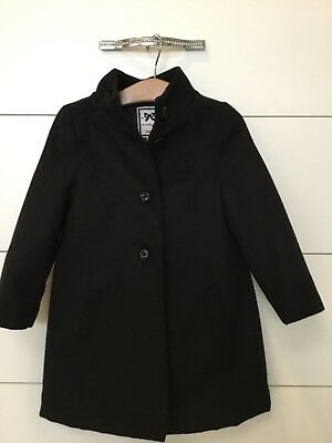 Gymboree Girls Black Long coat XS 4 Excellent!!