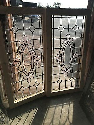SG 2573 2 Av Price each antique beveled oval center window 23 eights x 40.25