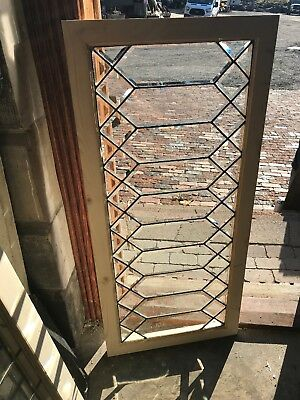 Sg 2574 Antique All Beveled Glass Transom Window22 1/4 x 48 1/4