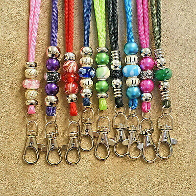 Beaded Paracord Lanyard for Gun Dog Training ACME whistle id card