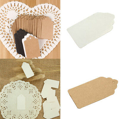 100 Kraft Paper Gift Tags Crafts Blank Price Tag Wedding Gift Tag Hanging Decor