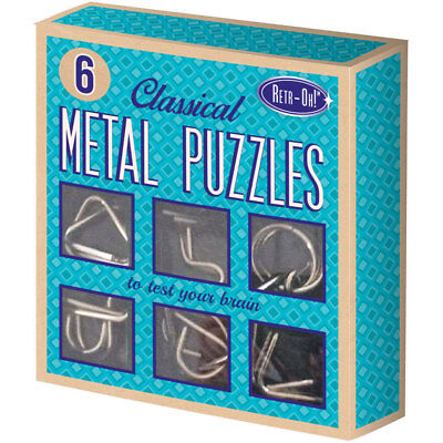 Retr-Oh: 6 Metall Puzzle Set