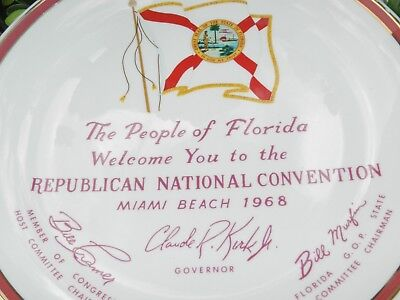 Vtg 1968 Republican Party Political Campaign Souvenir Miami Beach Florida Nixon