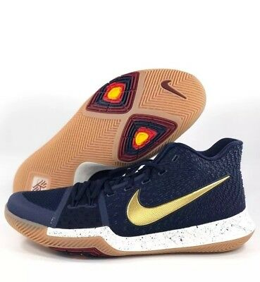c7233068c97a Nike Kyrie III 3 Bright Lights Navy Gold Mens Basketball Shoes 852395-400  sz 10