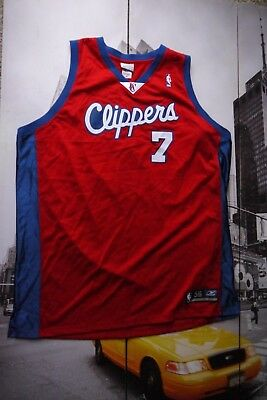 1999 Reebok Authentic Lamar Odom Los Angeles Clippers Jersey 56 3XL  7 Red  NBA 751f289ee