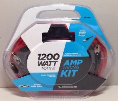 Scosche 1200 Watt Amp Wiring Kit KPA6D Brand NEW & Sealed Free Shipping
