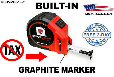 Quickdraw 25' Measuring Tape Contractor Grade Self Marking Quickdraw Tool New