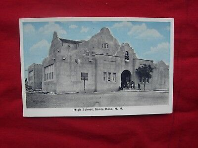 Vintage Postcard post card Santa Rosa High School New Mexico  NM