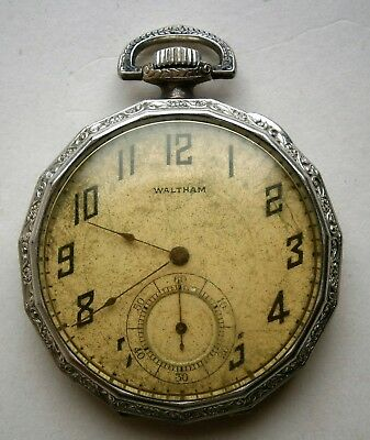 Art Deco Waltham Pocket Watch from the 1920's in a SUPREME I.W.C. Co. Case