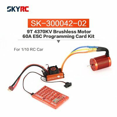 SKYRC Leopard 60a ESC 9t 4370kv Brushless Motor mit Program Card for 1/10 RC TL