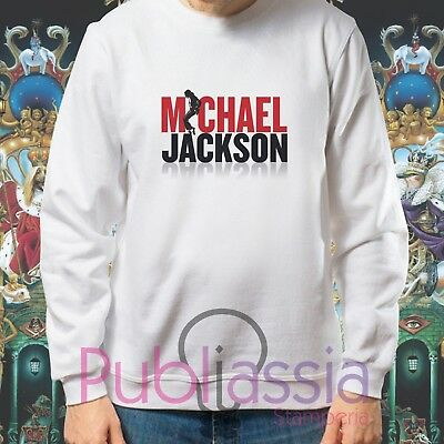 Michael Jackson Felpe Cappuccio Girocollo The King Of Pop MJ Jacko idea regalo18