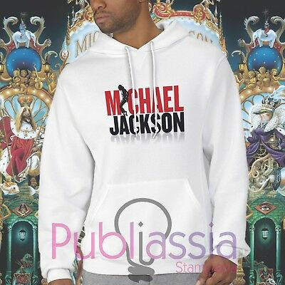 Michael Jackson Felpe Cappuccio Girocollo The King Of Pop MJ Jacko idea regalo19