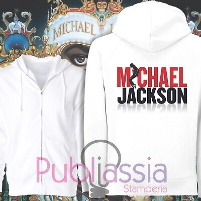 Michael Jackson Felpe Cappuccio Girocollo The King Of Pop MJ Jacko idea regalo20