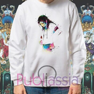 Michael Jackson Felpe Cappuccio Girocollo The King Of Pop MJ Jacko idea regalo21