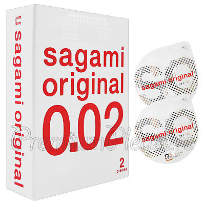 Sagami Original 002 condoms Non-latex Super Ultra thin 0.02 mm Japan Box of 2