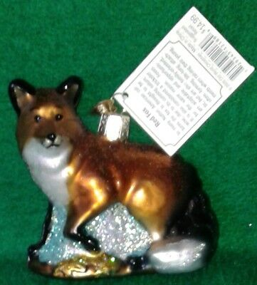Red Fox by Old World Christmas, Hand Painted, Glass Ornament, Free Shipping