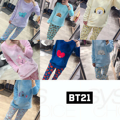 BTS BT21 Official Authentic Goods Winter Pajamas Set by Hunt Innerwear + Track #