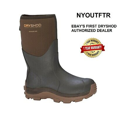 Dryshod Haymaker Mens Mid Brown Hard-Working Farm Boot Sizes 7-16 HAY-MM-BR Muck