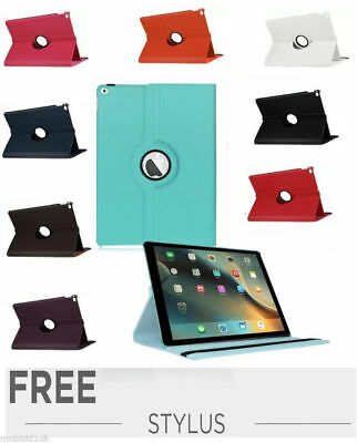 Leather 360 Rotating Smart Stand Case Cover For iPad 234 FREE Protector & Stylus