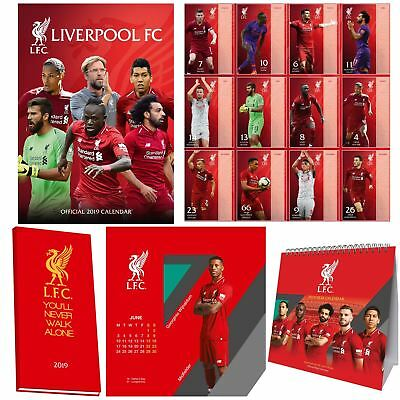 2019 Official Liverpool Football Calendar The Reds Hanging Gift Birthday