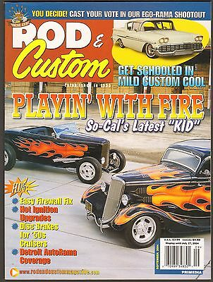 September 2004 Rod & Custom Magazine 1958 Chevy Biscayne, Indian Larry Rat Fink