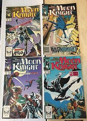 Moon Knight Marc Spector 1 2 3 4 Marvel Comic Lot / Run 1989 VF+/NM Condition