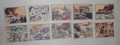WWII Trading Cards Flash War News Lot of 10 Gum Inc.