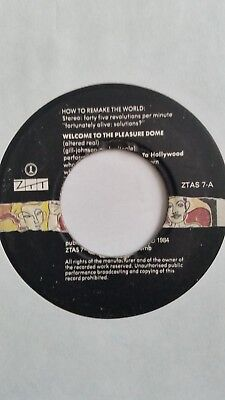 "Frankie Goes To Hollywood Welcome To The Pleasure Dome 7"" Single Vinyl Record"