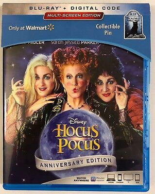 Disney Hocus Pocus Anniversary Edition Blu Ray Walmart Exclusive Collectible Pin