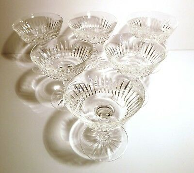 """*VINTAGE* Waterford Crystal EILEEN (1968-) Set 6 Champagne / Tall Sherbet 4 1/2"""""""