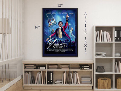Hugh Jackman The Greatest Showman 2017 A3 Framed Autographed Signed Movie