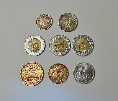 Mexican coin Lot of 8