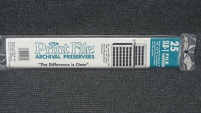 New, unopened package of 25 Print File Archival Preservers SLB-1 File Hangers