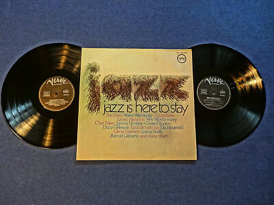 JAZZ IS HERE TO STAY - V.A. - 2 LP's - FOC  M-M VG+ VERVE REC. GER