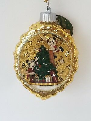 Disney Parks Mickey Mouse Minnie Mouse Christmas Ornament 2018
