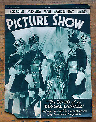 OLD FILM magazine - Picture Show for June 15th 1935