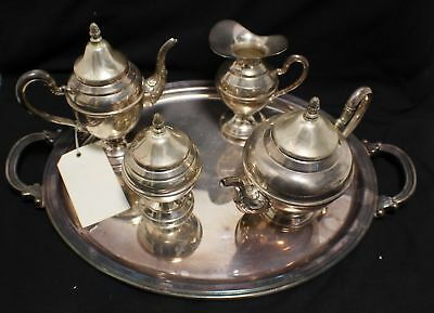 Vintage 5pc Italian Coffee Tea Service Set 800 Silver Pot Creamer Sugar European