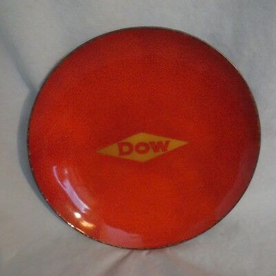"""Vintage """"dow"""" Chemical Collectable Enamelware Dish/plate/bowl (6"""")"""