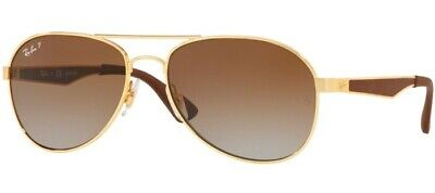 a46a4d7faebf9 Ray Ban RB3549 001 T5 Gold Brown   Brown Gradient Polarized 58mm Sunglasses