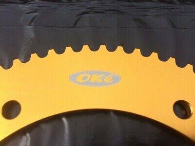 Oke 68 Tooth GOLD Go Kart Sprocket Gear - Quality Alloy Suit 219 Chain