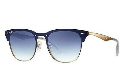9f8069d6dee Ray Ban RB3576N 043 X0 Brushed Gold   Clear Gradient Blue Red Mirror  Sunglasses