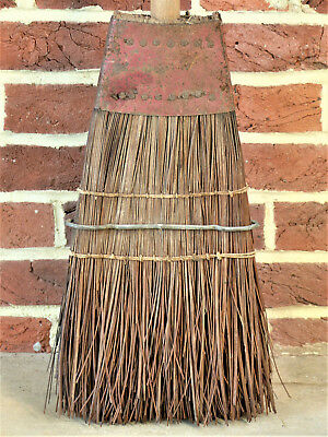 """RARE Antique VINTAGE SHAKER Style Early Large 57"""" Scraper New England BROOM"""