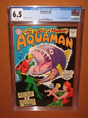 Aquaman #23  CGC 6.5  (looks MUCH better) WHITE pgs 1965 12 HD pix Ships INSURED